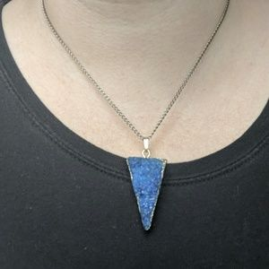 Inverted Triangle Stone Necklace